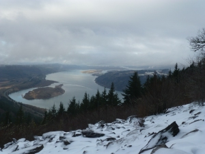 Dec 2012 - view of the Columbia River from Angel's Rest