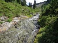 Wonderful waterslide stream in Cataract Valley