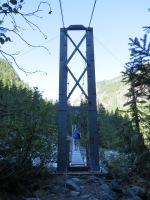 Carbon suspension bridge.
