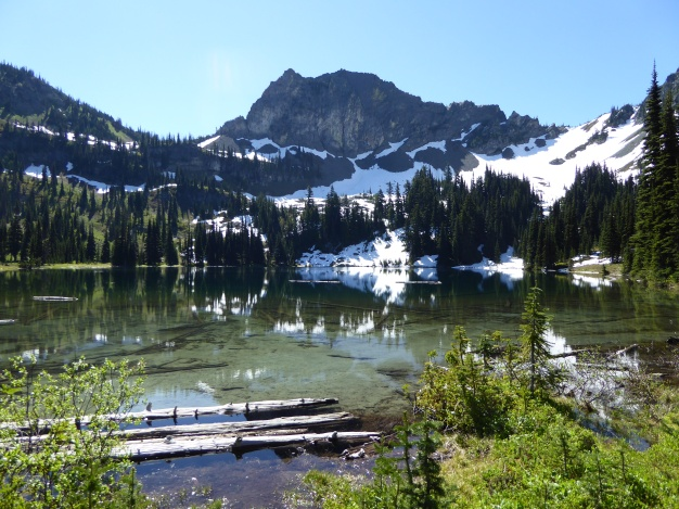 View from 1 of the 2 backcountry campgrounds at Upper Crystal