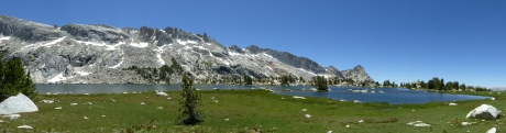 reminds me of a smaller version of Thousand Island Lake in Ansel Adams Wilderness