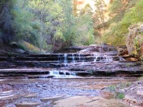 Beautiful terraced waterfalls