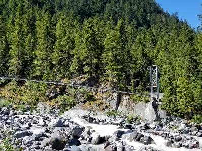 Carbon River suspension bridge