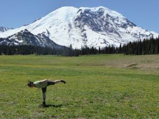 Little bit of yoga in the meadow