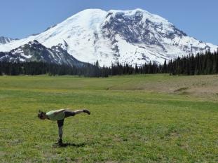 Little bit of yoga in the meadow