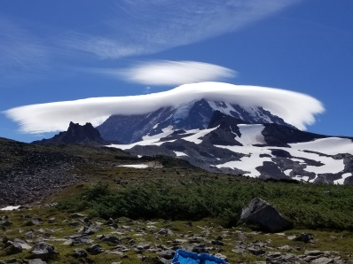 Lenticular cloud over Rainier