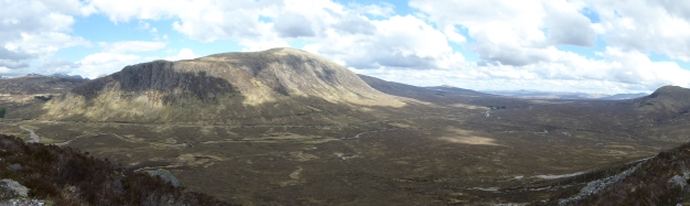 Looking down on Rannoch Moor