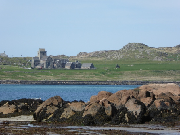 Looking from Fionnphort, Mull, across to the Iona Abbey