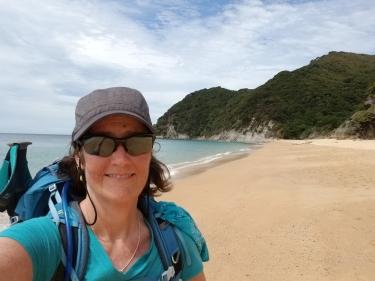 Me on a beach, Abel Tasman