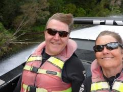 Feeling tan on the Waikato river