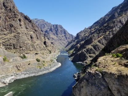View from Hells Canyon Dam