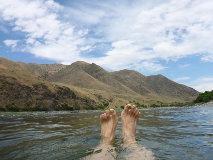 Swimming in the Snake River at the Garden Creek Preserve (Nature Conservancy)