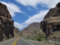 Driving through Picture Gorge